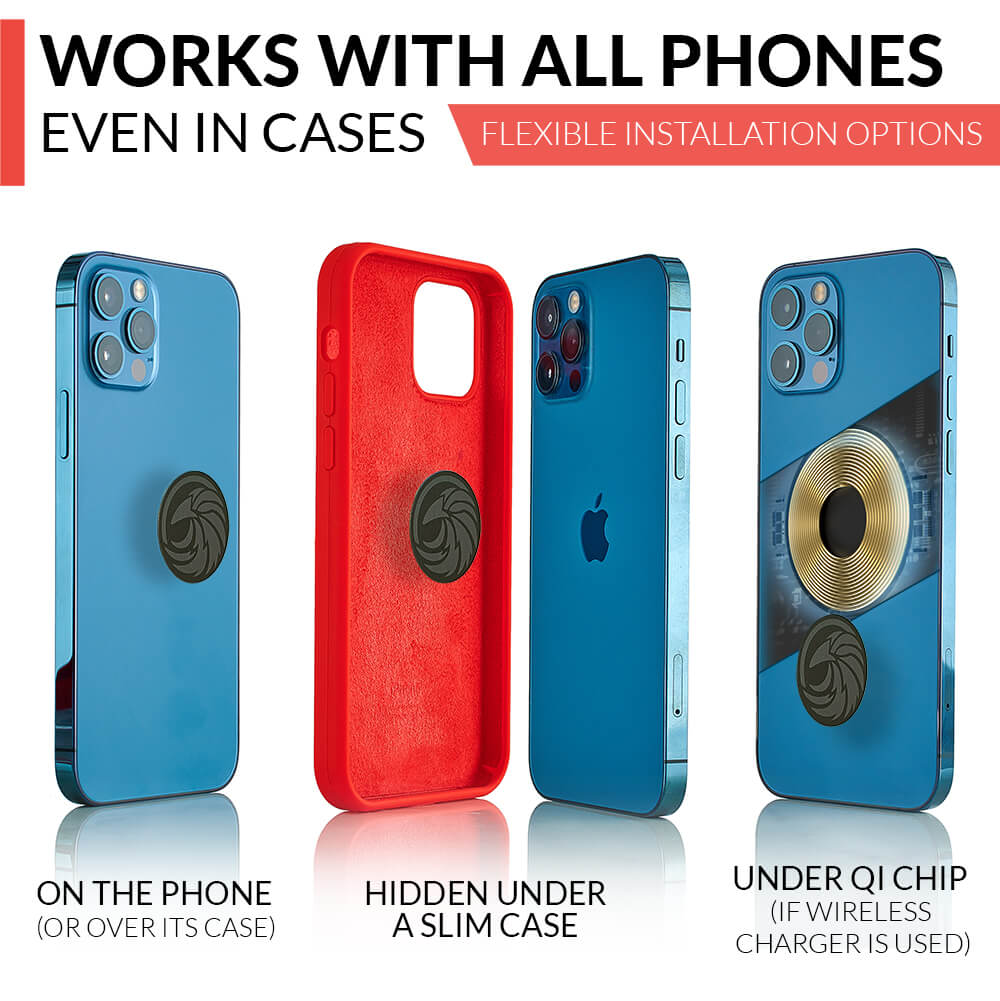 Compatible with all phones and cases
